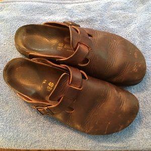 Havana Oiled Leather Birkenstock Clogs